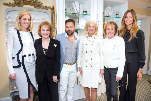 Ashley Taylor Bronzcek (Ann Hand's granddaughter), Ann Hand, Alvin, Dr. Biden, Valerie Biden Owens and me wearing a Prada blouse and Alvin Valley pants