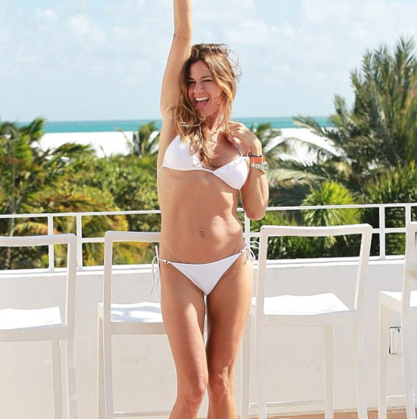 ecf878fff62 Back to the Bikini: Not only is Elizabeth Hurley an incredible actress, but  she has added bathing suit designer to her impressive repertoire.